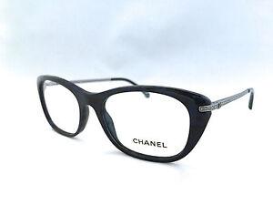 974c1f1c5aef New Rare Authentic Chanel 3295B c.1487 Black/Blue 51mm Eyeglasses RX ...