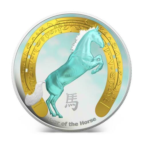 Niue 2014 $2 Chinese Lunar Calendar Year of the Horse 1 Oz Silver Proof Coin