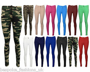 NEW-LADIES-SKINNY-FIT-COLOURED-STRETCHY-JEANS-WOMENS-JEGGINGS-TROUSERS-SIZE-8-26
