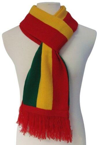WINTER WARM KNIT SCARVES RASTA JAMAICAN JAMAICA PAN AFRICAN ETHIOPIA FLAG REGGAE
