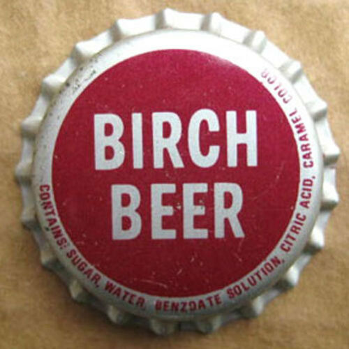 BIRCH BEER unused Cork Soda CROWN Bottle Cap 7-UP MARYLAND Seven Up Hagerstown