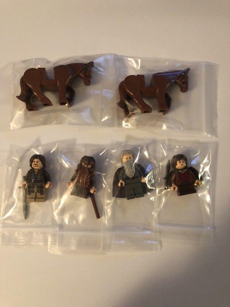 LEGO LOTR minifigures FELLOWSHIP OF OF OF THE RING LOT Gandalf Frodo Horse E eb7483