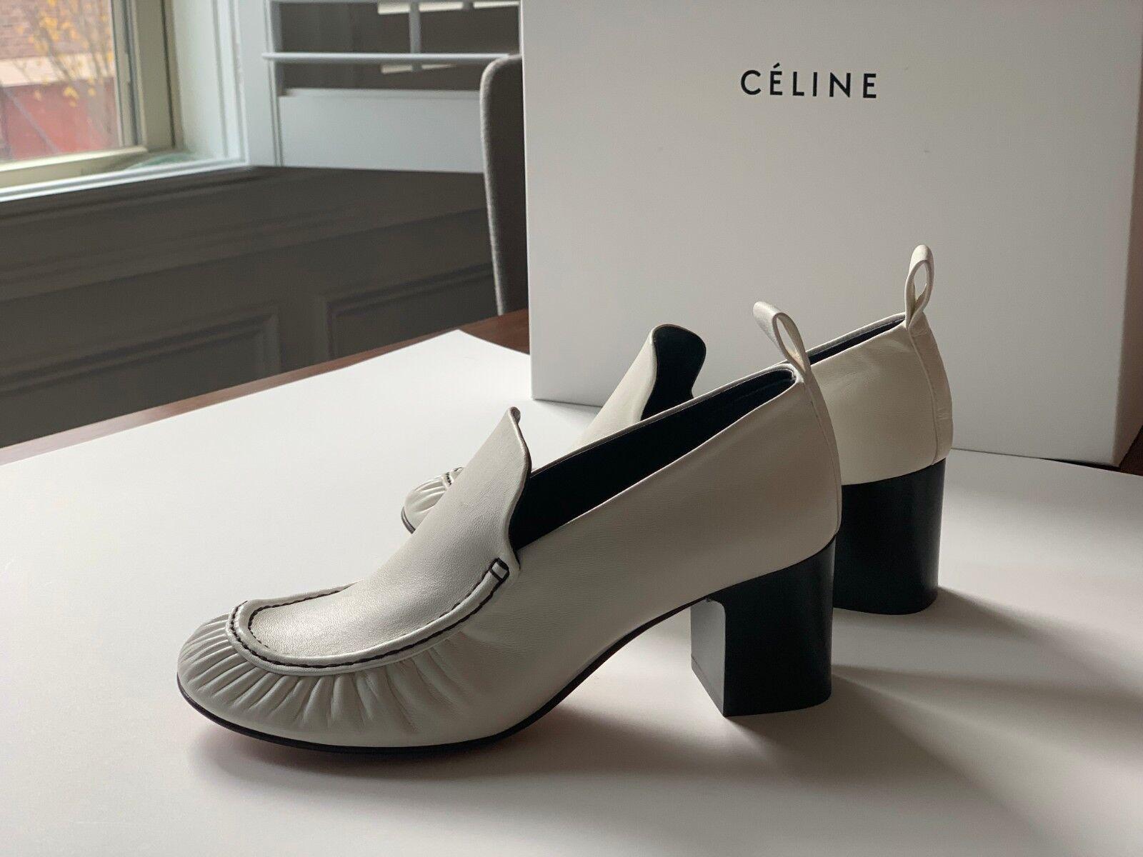 Céline Tubular Mocc Napa cordero-Talla 7.5 - en blancoo
