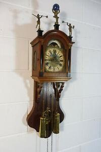 Dutch Wall Clock Warmink Wuba Oak Wood Old Clock Ebay