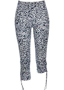 Damenleggings Damen Kurz Gr4446 Leggings Weiß Dunkelblau Hose WD9IE2HY