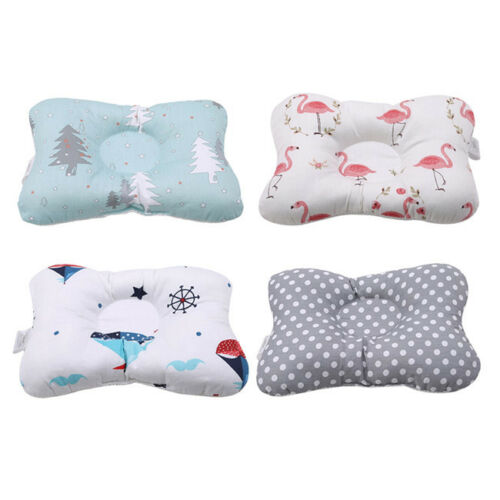 Baby Infant Pillow Newborn Anti Flat Head Syndrome Crib Cot Bed Neck Support 7N