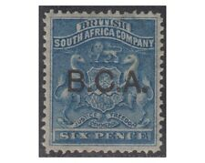 British Central Africa stamps 1891optd B.C.A 6 pence deep blue SG.5 MH -F310