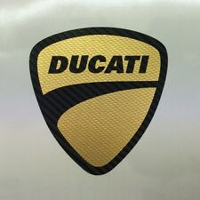 Motorsport  Aufkleber Ducati 1198 1098 848 Monster Tricolore Carbon-Schwarz Gold