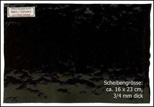 Effetre Flachglas AK104 SCHWARZ 266,67€//m² 165x250mm, z Fusen mit Perlenglas