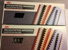 Huge Lot Of Gbc Brand Presentation Binding Combs 1 Amp 5 Blackwhite Nib