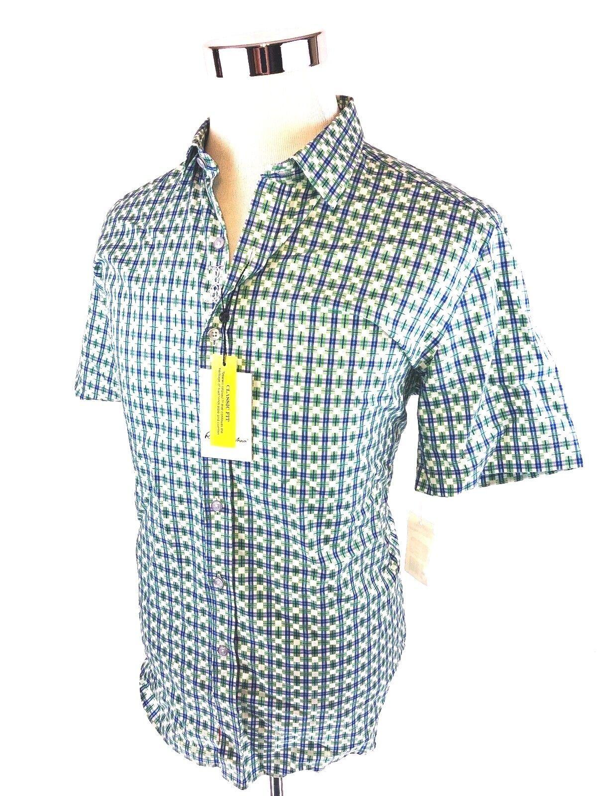 Robert Graham Short Sleeve Button Front Sport Shirt Mens Medium  Large NWT