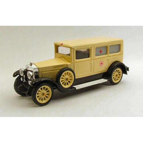 FIAT 519s AMBULANZA 1930 CROCE ROSSA ITALIANA 1:43 Rio Ambulanze Die Cast