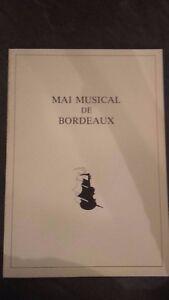 Folleto Clásico Mai Musical Burdeos Mai 1978 Tbe