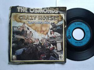 The-Osmonds-Crazy-Horses-7-034-Single-Vinyl-1972-mit-Schutzhuelle