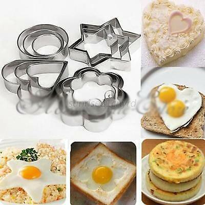 12Pcs Stainless Steel Cake Cookie Fondant Mould Mold Sugarcraft Cutter Xmas