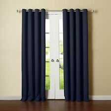 Item 1 Thermal Solid Blackout Panels Set Of 2 Grommet Curtains 57W X 84L Energy Saving
