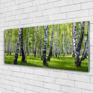 Wall art Print on Plexiglas® Acrylic 125x50 Forest Nature