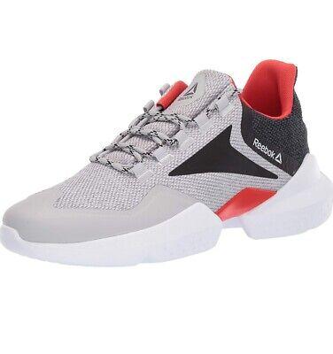 Reebok Reebok Split Fuel DV7157 Mens Gray Mesh Lace Up Athletic Running Shoes