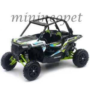 Details About New Ray 57593 C Polaris Rzr Xp 1000 Dune Buggy 4 Wheels 1 18 White Green