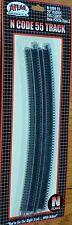"""Atlas N #2026 Code 55 Track w/Nickel-Silver Rail & Brown Ties -- 20"""" Radius Full"""