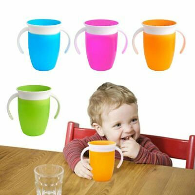 Baby Toddler Child Spill-Proof Self-Helper Milk Juice Water Cup Holder