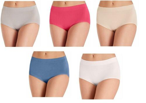 CLOSEOUT C43 Women/'s Carole Hochman Seamless Brief 5 Pack ASSORTED Ships Free