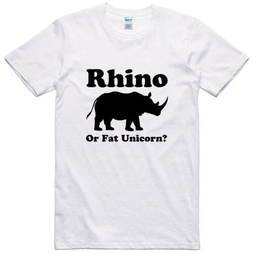 Herren Lustiger Spruch Neuheit T-Shirt Regular Fit 100/% Baumwolle Rhino Oder Fat