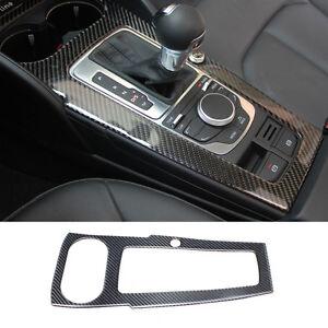 Carbon Fiber Interior Console Gear Shift Panel Cover Trim For Audi A3 8v 2012 17 606814892048 Ebay