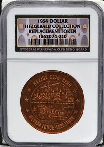 1964-Dollar-034-Fitzgerald-Collection-034-Copper-Replacement-Token-NGC-Certified