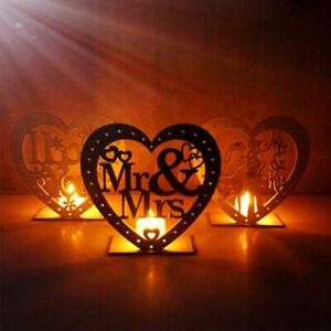 Eg-Sn-Kf-Holz-Herz-Geschaerft-LED-Kerze-Tischlampe-Ornament-Hochzeit-Party