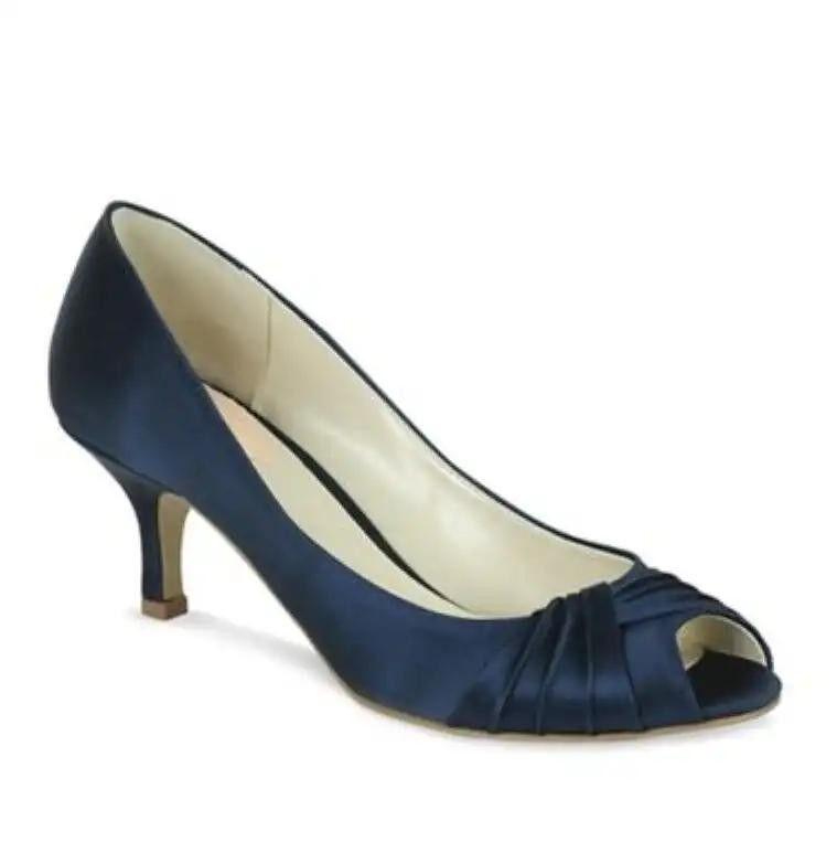 *BRAND NEW* Paradox London Pink Romantic Peep Toe Shoes - Navy - UK 3 EUR 36