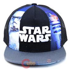 Star Wars Hat Adjustable Youth Snap Back Mesh Back Cap Storm Tropper R2D2 Logo