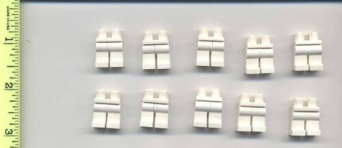 LEGO x 10 White Hips and Legs NEW for minifig minifigs minifigure