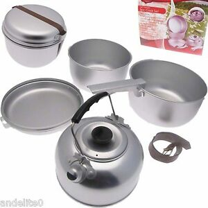 Camping-amp-Travel-Foldaway-Lightweight-Aluminium-Cook-Cooking-Pans-set