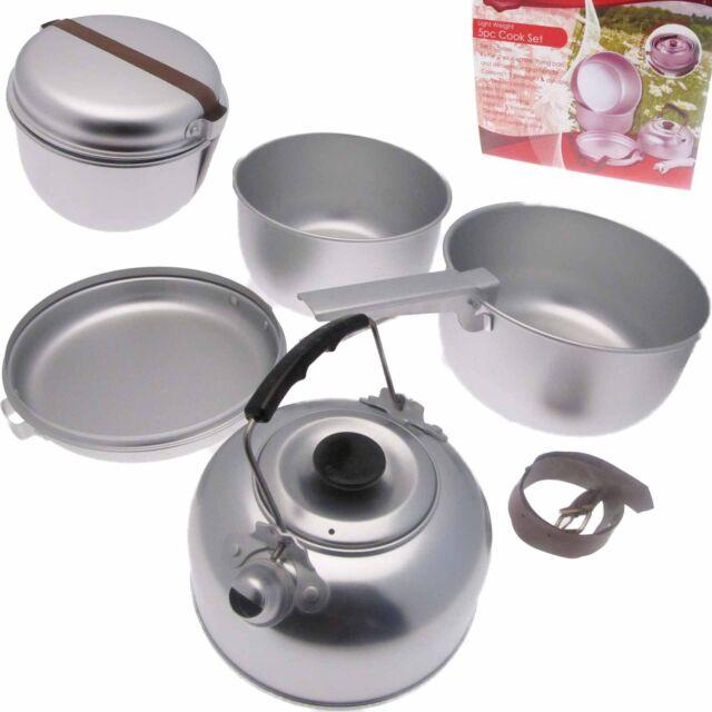 Camping & Travel Foldaway Lightweight Aluminium Cook Cooking Pans set
