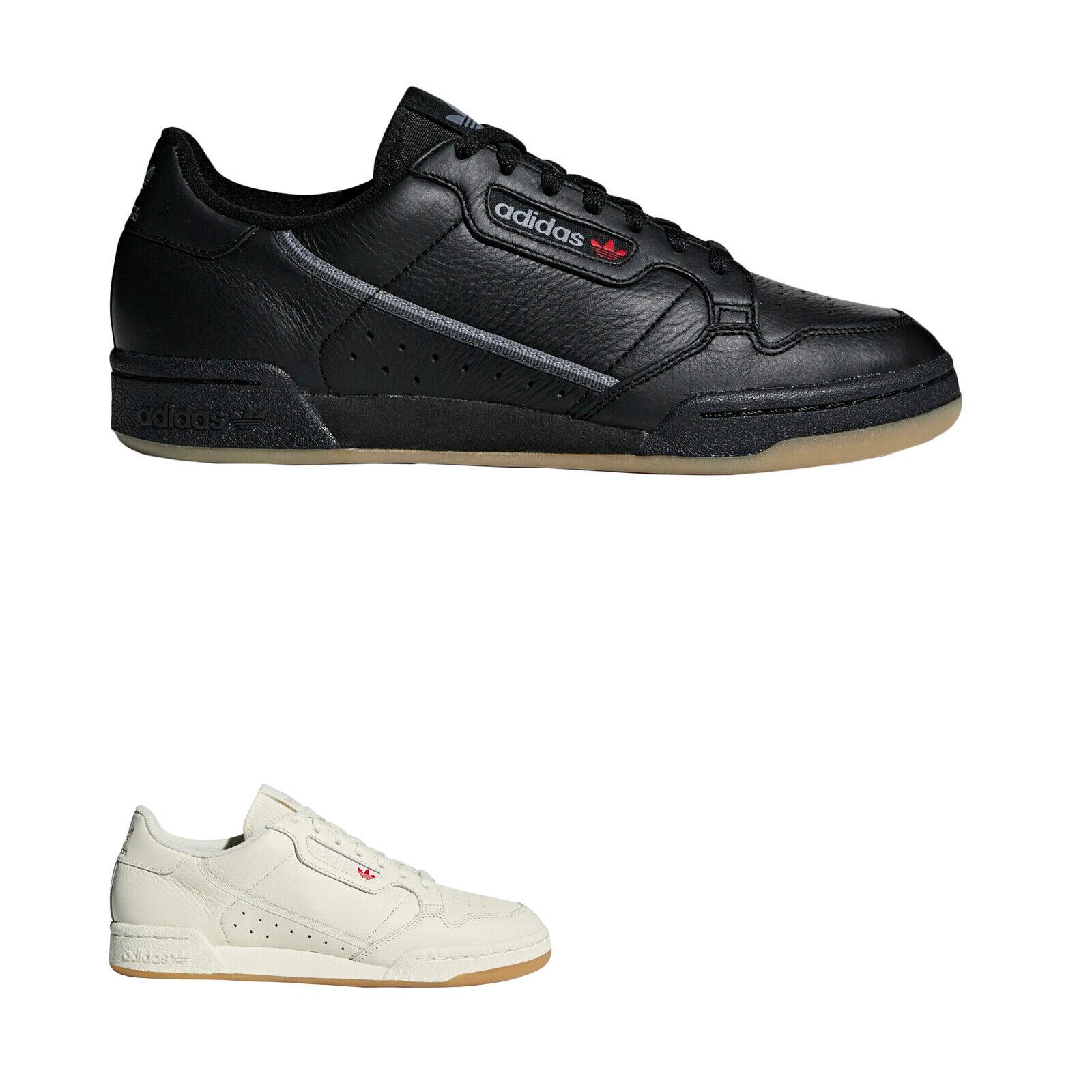 Adidas Continental 80 Cuero Vieja Escuela de Tenis Bajo Superior Entrenadores Para Hombre