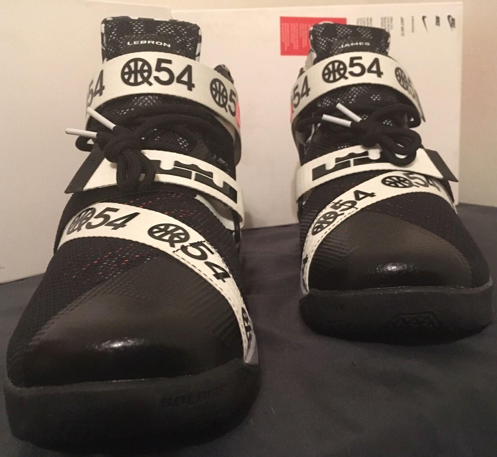 Nike lebron soldato ix lmtd 810803-015 quai 54 nero / bianco
