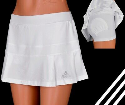 Adidas Adipure Skort Damen Tennis Rock Short Tight Hosenrock Laufrock Women Weiß