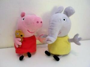 Details About Peppa Pig Emily Elephant 6 Ty Beanie Plush Soft Toy Dolls Set