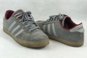 Adidas Neo Label Gray Maroon Shoes Sneakers Mens Size 11.5 - 1175