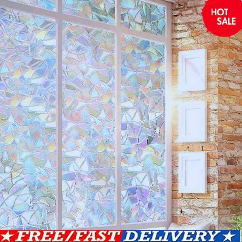 3D Window Glass Film Rainbow Sticker Stained Anti UV Self-adhesive 45*100cm Best