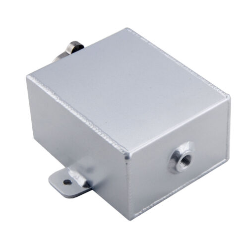 Universal 1.2L Aluminum Coolant Expansion Recovery Overflow Tank W//Cap Silver