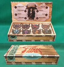 BioShock Infinite Deluxe Bronze Vigor Pin Set of 8 Collectible Pins Display Box