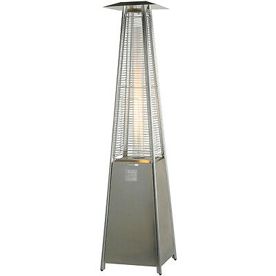 Stainless Steel Pyramid Flame Heater Patio Garden Outdoor Yard Warmth Gazebo new