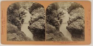 Cascade Reggiseno Del Trient Suisse Foto ThL4n2 Stereo Vintage Albumina c1870