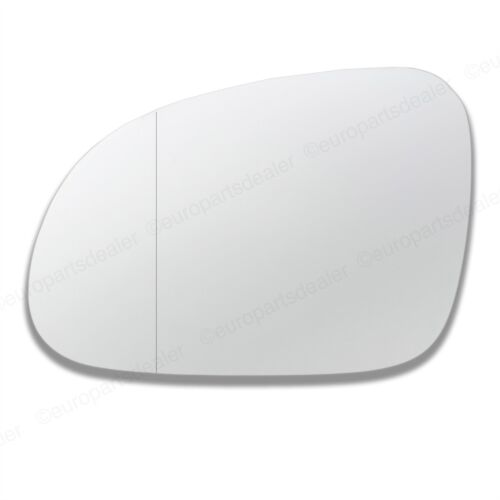 Passenger Side WIDE ANGLE WING DOOR MIRROR GLASS VW Passat 2005-2010 Stick On