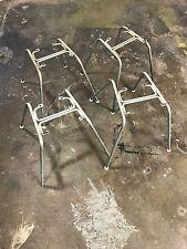 Herman Miller Eames  fiberglass Shell chair Zinc H base (Set of 4)