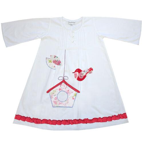 100/% coton manches longues chemise de nuit-bonnie-bird box-powell craft-ages 1-9