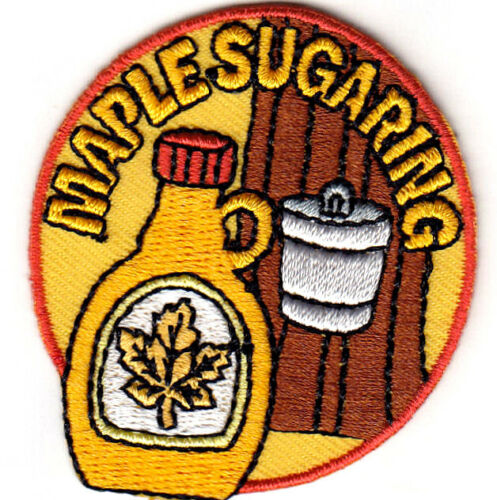 """SYRUP PANCAKES /""""MAPLE SUGARING/""""- FOOD Iron On Embroidered Patch"""
