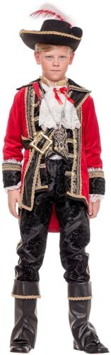 Boys Made Deluxe Pirate Outfit 8 Captain 12 3 Costume Dress Yrs Pc Italian Fancy BwgAq5xqf